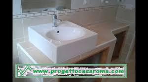 Ristrutturazione appartamento bagno roma.realizzazione di lavabo