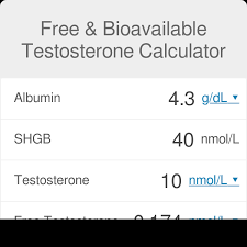 Testosterone Level Chart By Age Free Testosterone Omni Calculator