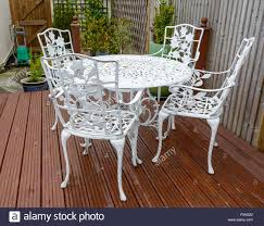 white iron garden furniture. White Cast Iron Garden Table And Chairs In A Back Furniture G