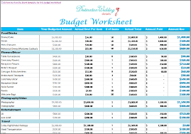 Excel Wedding Budget Planner Template Wedding Budget Planner