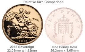 Gold Sovereign Dimensions Bullionbypost Gold Bars