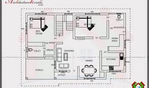 bedroom house plans kerala single floor