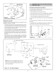 figure 10 fan wiring diagram warning must use the cord supplied with the j box figure 11 heat glo fireplace heat n glo fb in user manual page 20