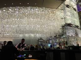 the cosmopolitan chandelier bar