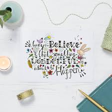Inspirational And Positive Quote Postcard Or Card