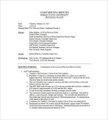 Minutes Document Template Staff Meeting Minutes Template Free Templatesource