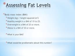 mass index bmi weight kg height squared