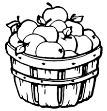apple basket clipart. apple basket coloring page: pages clipart