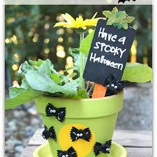 fall decor going batty flower pot