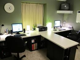 home office double desk. Chic Double Desk Home Office Workspace Awesome T Idea With All