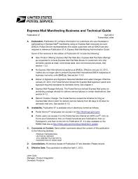 Express Mail Manifesting Business And Technical Guide Usps Com