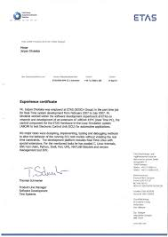 Examples Of Executive Resumes Experience Certificate Sample Of