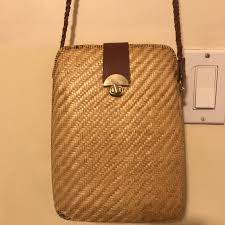 Best Purse Light Chic Wicker Purse Fits Best As A Shoulder Bag I Depop