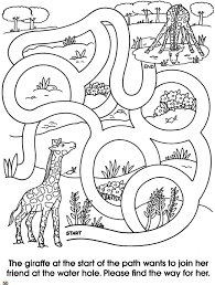 f79cdc8660f50b84937dae18b9b5e09a welcome to dover publications animal friends mazes pg 4 paper on pg printables