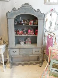 shabby chic furniture nyc. antique shabby chic china cabinet blue distressed eclecticdiningroom furniture nyc houzz