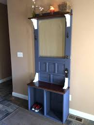 how to make a hall tree from an old door entryway bench hall tree hall tree