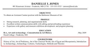 what to type in the objective section of a resume writing your resume hood college
