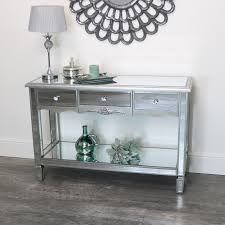 large mirrored console table tiffany