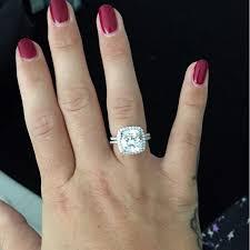 Cushion Cut Carat Size Chart 5 Carat Cushion Cut Cz Diamond Engagement Ring Bridal Set