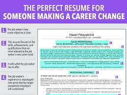 Career Change Resume Examples Ideal Resume For Someone Making A Career Change Business Insider 10