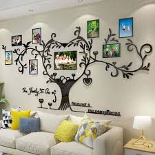 This handcrafted wooden wall frame is magnetic allowing you to switch the little photo magnets, keeping your home decor fresh and creative always! Amazon Com Decorsmart Love Family Tree Picture Frame Collage Removable 3d Diy Acrylic Wall Decor Stickers With Inspirational Quote For Living Room Kitchen Dining