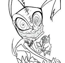 Creepy Coloring Pages Pics Of Scary Cat For Adults Billtab
