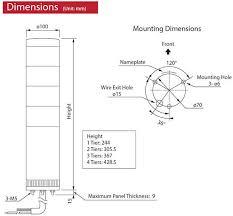 lgebc 120 fb001 lge 100mm signal tower base unit patlite valin Patlite Signal Tower Wiring Diagram patlite lge signal tower chart patlite signal tower wiring diagram