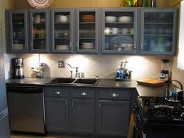 Dark Blue Cabinets Home Kitchen Cabinet Ways To Paint Intended For ...