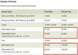 Alaska Air Mileage Award Chart Alaska Mileage Plan Award Chart Devaluation One Mile At A Time