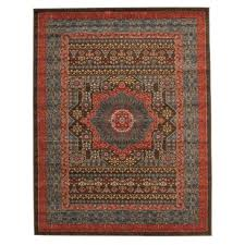 antique herima design floor area rug and runners brown red blue