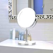 countertop vanity mirror double side magnification led makeup mirror bathroom and led lighted vanity conair chrome