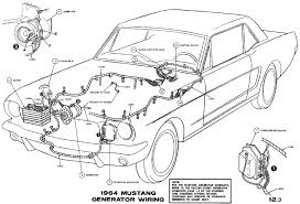 mustang wiring diagrams average joe restoration sm1964f 1964 mustang generator wiring pictorial or schematic