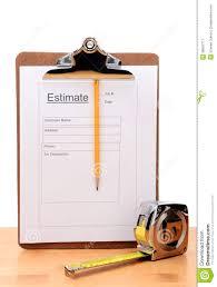 contractors estimate form vertical stock image image  contractors estimate form vertical