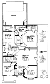 sink narrow lot house plans alluring narrow lot house plans 5 one story smartness design