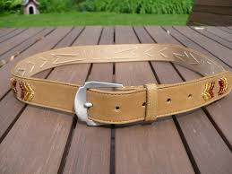beaded leather belt to expand