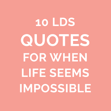 Lds Quotes On Faith Magnificent 48 LDS Quotes On Faith For When You Are Discouraged LDS Living