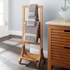 modern towel rack. Earth Conscious Bamboo Towel Rack Natural Look And Smooth Finish For Modern Ideas O