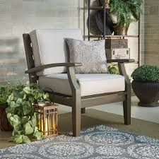 Yasawa Grey Modern Outdoor Cushioned Wood Chair iNSPIRE Q Oasis - Free  Shipping Today - Overstock.com - 19796802