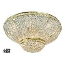 crystal semi flush mount ceiling light large diameter vintage chandelier ant 508 for antiques com classifieds