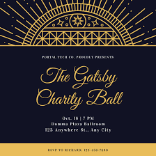 Great Gatsby Invitation Template Great Gatsby Themed Invitations