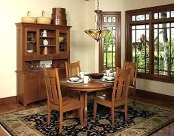 mission dining room set round table furniture antique style chairs ro