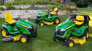 group shot of residential lawn mowers