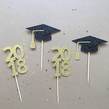 Congratulation Party Decorations Glitter Congratulations Graduation 2018 Cupcake Toppers Wedding