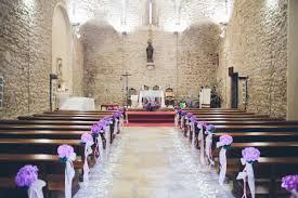Purple Hued Costa Brava Wedding Church Wedding Decorations