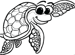 Sea Turtle Coloring Page Cute Turtle Coloring Pages Of Sea Turtles