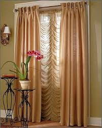 image of thin living room window curtains