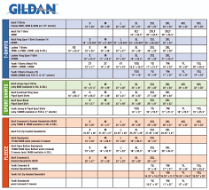 Gildan G200 Size Chart Gildan Unisex Shirt Size Chart Rldm