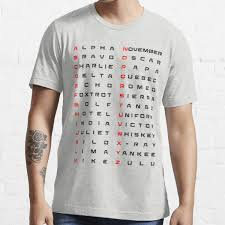 Useful for spelling words and names over the phone. Military Phonetic Alphabet T Shirts Redbubble
