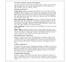 Resume Sections Awesome Sections Of A Resumes Canreklonecco