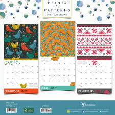 Small Picture 2017 Prints and Patterns Wall Calendar TF Publishing